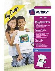 Avery md1001 textile transfers for light materials at for Avery t shirt transfer paper for laser printers